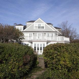 Elegant three-story wood exterior home photo in Boston