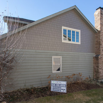 Shakin' things up in Naperville with shake style fiber cement siding replacement