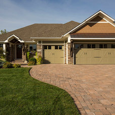 Traditional Exterior by DURST & GANS BUILDING CORP
