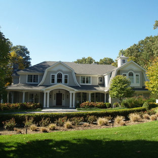 Example of an exterior home design in New York