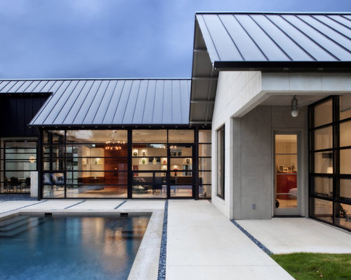 Galvalume standing seam roof houzz for Modern homes with metal roofs