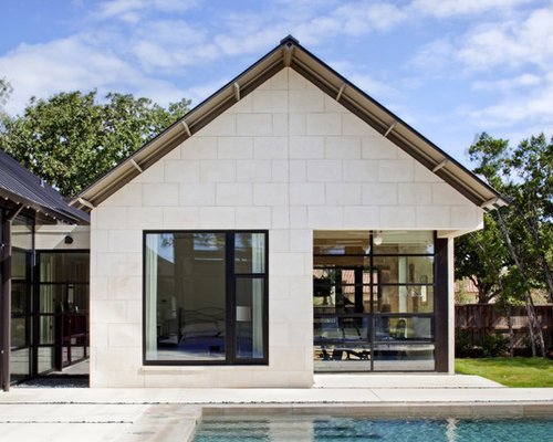 Inspiration For A Contemporary One Story Gable Roof Remodel In Austin