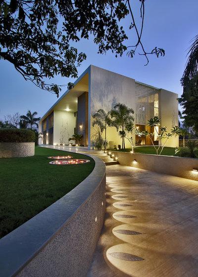 Contemporary Exterior by Dipen Gada and Associates