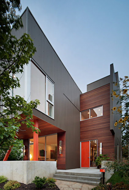 Modern Exterior by Faust Construction