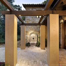 Mediterranean Exterior by Simpson Design Group Architects