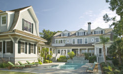 Shingle Style Beach Home with Guest House