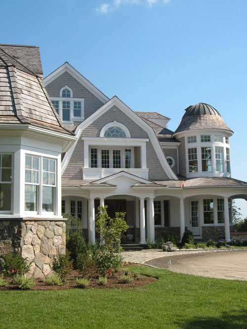 Shingle style coastal nantucket houzz for Nantucket shingle style