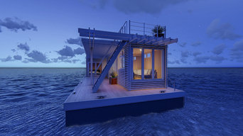 Shipping Container Floating Housing Units