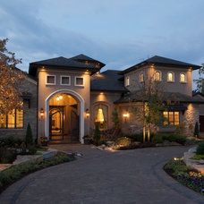 Mediterranean Exterior by Falcone Homes