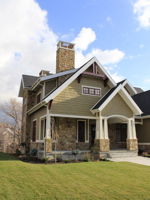 Craftsman exterior trim houzz for Exterior contemporary house colors