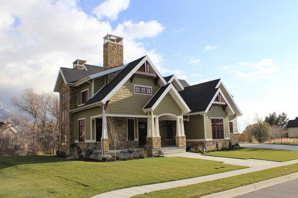 Craftsman Exterior by Joe Carrick Design - Custom Home Design