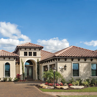 Inspiration for a mediterranean exterior home remodel in Tampa