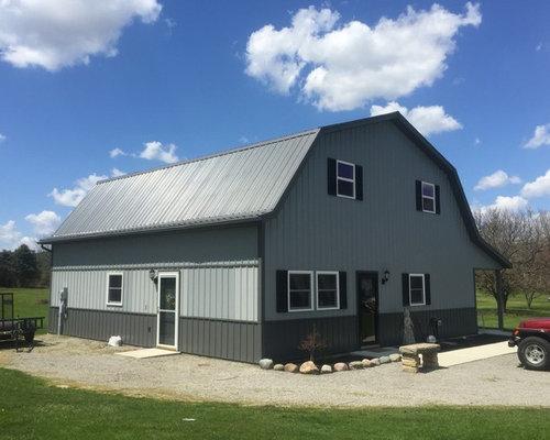 Exterior design ideas renovations photos with a gambrel for Gambrel style steel building