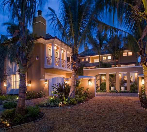 Tropical Exterior by Silver Sea Homes
