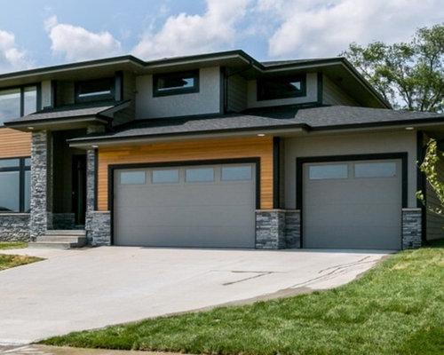 Ideas para fachadas dise os de fachadas modernas con for Tejados de madera a cuatro aguas