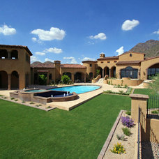 Mediterranean Exterior by SOMMER CUSTOM HOMES