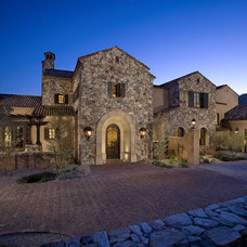 Mediterranean Exterior by R.J. Gurley Custom Homes