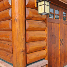 Exterior by Mountain Log Homes of CO, Inc.