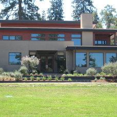 Modern Exterior by Haxton design-build llc