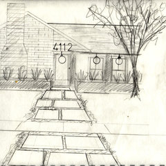 contemporary exterior Sketches for Lindsey's Exterior