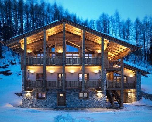 Tetto in legno foto e idee houzz for Piani di casa in stile baita di montagna