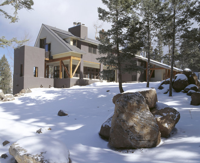 Rustic Exterior by Webber + Studio, Architects
