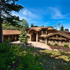 Rustic Exterior by Jaffa Group Design Build