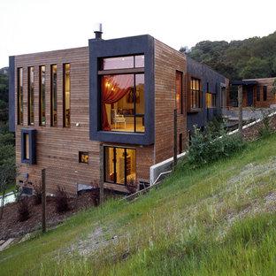 Modern wood exterior home idea in San Francisco