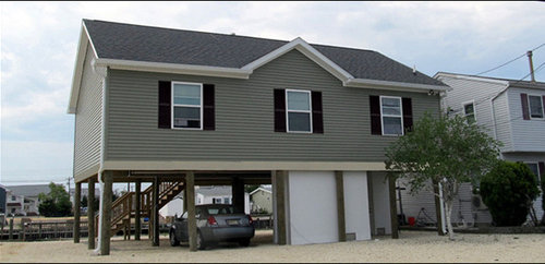 Jersey Shore House on Pylons - Custom Modular Home Build