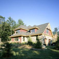 Rustic Exterior by Habitat Post & Beam, Inc.