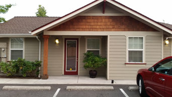 small professional office built to fit in an established residential neighborhoo