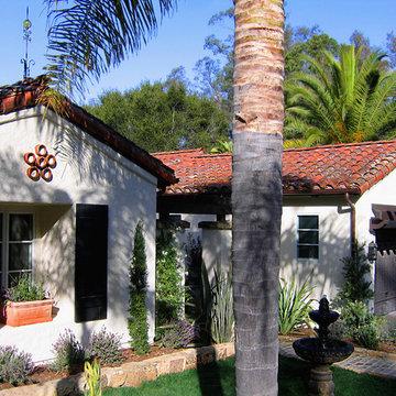 Small Santa Barbara Style Spanish home in Montecito California