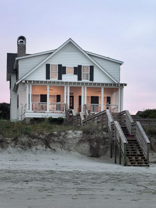 Large beach houses exterior design ideas renovations photos for Beach house exterior design