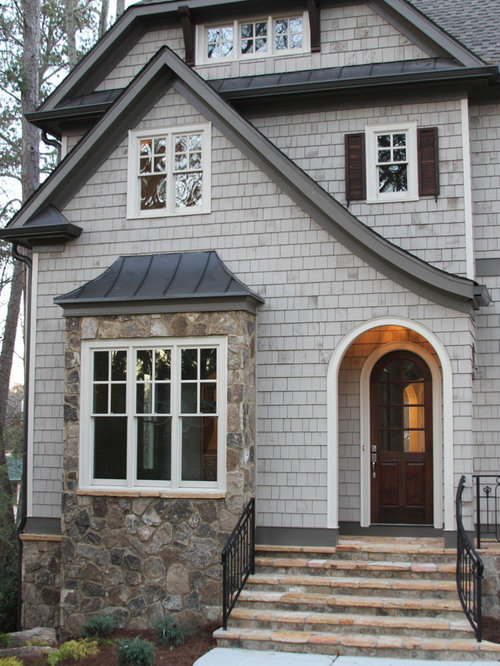 Black Fascia House Contemporary Exteriors Farmhouse: Gray Fascia Home Design Ideas, Renovations & Photos