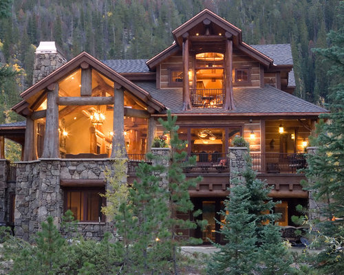 Lord of the rings home design ideas pictures remodel and for Stone and log home designs