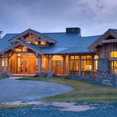 Rustic Exterior by Van Bryan Studio Architects