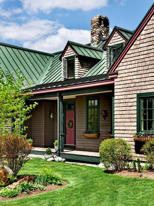 green metal roof houzz. Black Bedroom Furniture Sets. Home Design Ideas