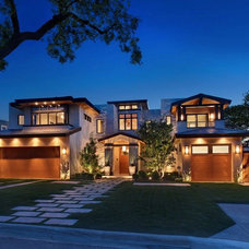 Contemporary Exterior by Brandon Architects, Inc.