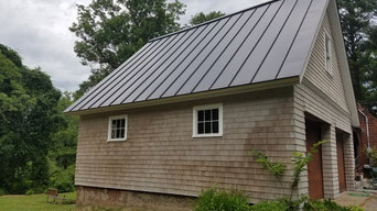 Solar Thermal Energy Collector Panels on Inventor's Roof