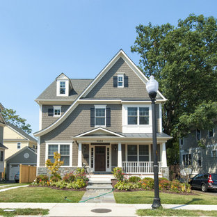 Example Of A Clic Three Story Gable Roof Design In Dc Metro