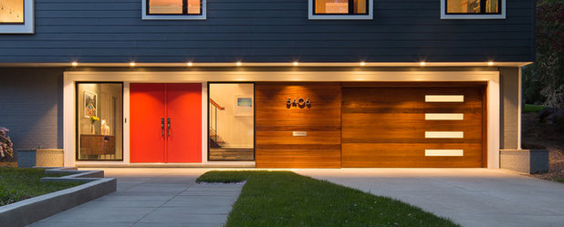 Midcentury Exterior by Balodemas Architects