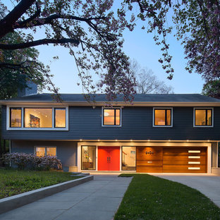 75 Beautiful Mid Century Modern Split Level Exterior Home Pictures Ideas March 2021 Houzz