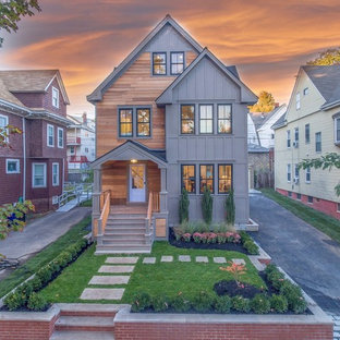 Inspiration for a transitional exterior home remodel in Boston