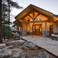 Traditional Exterior by Mountain Timber Design, Inc.