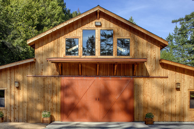 Contemporary Exterior by The California Redwood Association