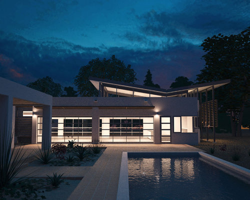 Butterfly roof houzz for Updating 80s contemporary home exterior