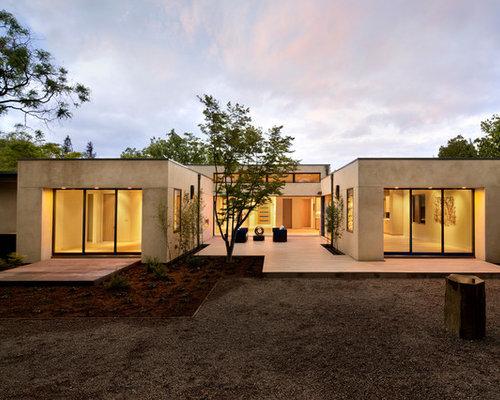 U shaped house houzz for U shaped container home