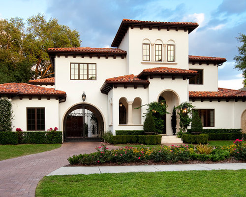 Tampa exterior home design ideas remodels photos for Mediterranean roof styles