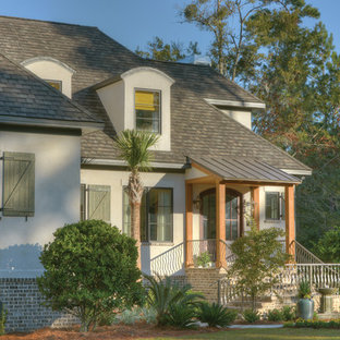 Inspiration for a coastal exterior home remodel in Jacksonville