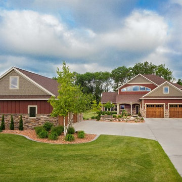 Southern Minnesota New Age Craftsman Custom Home #816